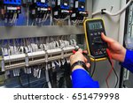engineer tests the industrial... | Shutterstock . vector #651479998
