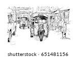 sketch of transportation... | Shutterstock .eps vector #651481156