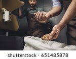 close up partial view of male... | Shutterstock . vector #651485878