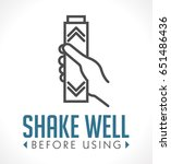 shake well before using icon | Shutterstock .eps vector #651486436