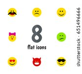 flat expression set of caress ... | Shutterstock .eps vector #651496666