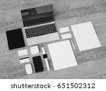 black and white stationery  ...   Shutterstock . vector #651502312