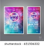 vector dance club night summer... | Shutterstock .eps vector #651506332