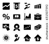 finance icons set. set of 16... | Shutterstock .eps vector #651507592