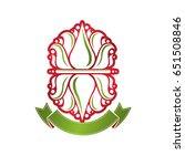 vintage heraldic vector... | Shutterstock .eps vector #651508846
