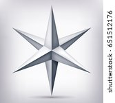 volume six pointed gray star ... | Shutterstock .eps vector #651512176