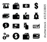 pay icons set. set of 16 pay... | Shutterstock .eps vector #651513805
