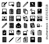 notebook icons set. set of 36... | Shutterstock .eps vector #651515218