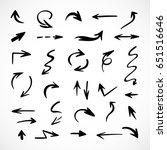 hand drawn arrows  vector set   Shutterstock .eps vector #651516646