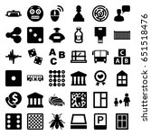 square icons set. set of 36... | Shutterstock .eps vector #651518476