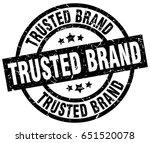 trusted brand round grunge... | Shutterstock .eps vector #651520078