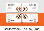 white business card template... | Shutterstock .eps vector #651526405