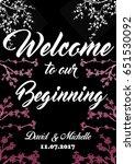 wedding reception sign | Shutterstock . vector #651530092