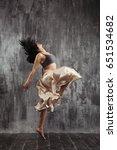beautiful ballet dancer with... | Shutterstock . vector #651534682