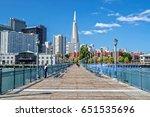 transamerica pyramid from pier... | Shutterstock . vector #651535696