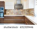modern design of the kitchen in ... | Shutterstock . vector #651539446
