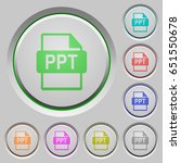 ppt file format color icons on... | Shutterstock .eps vector #651550678