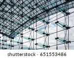 architectural background. glass ... | Shutterstock . vector #651553486