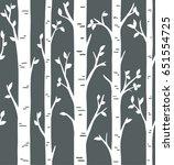 seamless pattern. birch or... | Shutterstock .eps vector #651554725