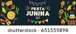festa junina horizontal... | Shutterstock .eps vector #651555898