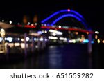 bokeh with yellow  blue and... | Shutterstock . vector #651559282