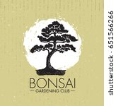 bonsai gardening club creative... | Shutterstock .eps vector #651566266