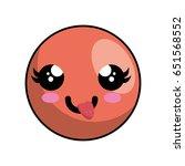 kawaii face icon | Shutterstock .eps vector #651568552