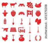 agriculture icons set. set of... | Shutterstock .eps vector #651570208