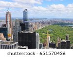 a view of skyline near central... | Shutterstock . vector #651570436