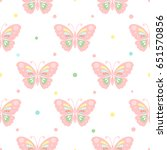 seamless pattern with... | Shutterstock . vector #651570856