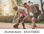 caucasian family playing... | Shutterstock . vector #651576832