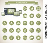 set of seo and development icons | Shutterstock .eps vector #651582622