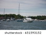 boats docked at put in bay ... | Shutterstock . vector #651593152