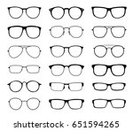 glasses for sight with a... | Shutterstock .eps vector #651594265