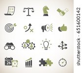 strategy and business icon set | Shutterstock .eps vector #651600142