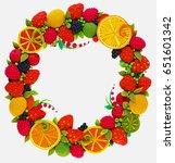 wreaths round  plasticine  ...   Shutterstock . vector #651601342