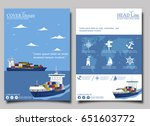 sea shipping poster template... | Shutterstock .eps vector #651603772