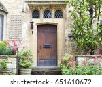 Old Dark Brown Wooden Doors In...
