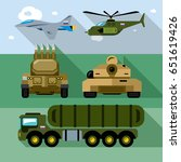 vector set of russian military... | Shutterstock .eps vector #651619426