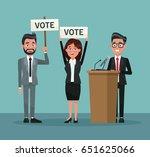background scene set people in... | Shutterstock .eps vector #651625066