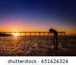 Silhouette Of A Photographer O...