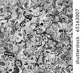 huge doodles background ...   Shutterstock .eps vector #65163007