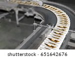 stack of magazines on offset...   Shutterstock . vector #651642676