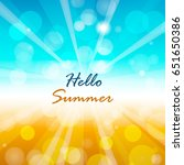 summer background with hello... | Shutterstock .eps vector #651650386
