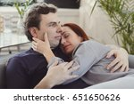 relationship. lovely couple at... | Shutterstock . vector #651650626