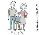 happy family concept with... | Shutterstock .eps vector #651653152