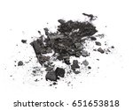 pile charcoal isolated on... | Shutterstock . vector #651653818