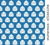 seamless pattern with open mail ... | Shutterstock .eps vector #651661246