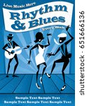 illustrated poster for a rhythm ...   Shutterstock .eps vector #651666136