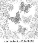 beautiful butterflies flying in ... | Shutterstock .eps vector #651670732